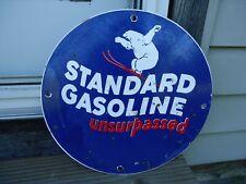 OLD VINTAGE STANDARD GASOLINE PORCELAIN GAS PUMP ADVERTISING SIGN POLAR BEAR