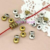 Wholesale 100Pcs Glossy Tibetan Silver Metal Spacer Flat bead For Jewelry Making