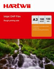 More details for 100sheets a3 ohp film inkjet  overhead projector clear film with white strip