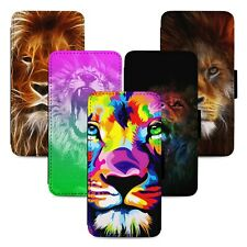 Awesome Lion Art Flip Phone Case Cover Wallet - Fits Iphone 5 6 7 8 X 11