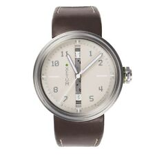 New Xetum Lyell Men's XLCR43L Cream Face Automatic 43mm Case Watch Leather Strap