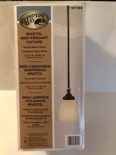 Hampton Bay Bristol 1-Light Nutmeg Bronze Mini Pendant Ceiling Fixture