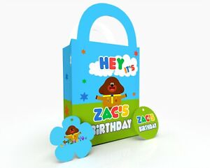 Personalised Hey DuGee Gift Bag, Party Bag, Party Box, Treat Bag/Box Party Favor