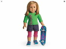 NEW American Girl Doll Skateboard OUTFIT ACCESSORIES SET Shoes Charm Pants