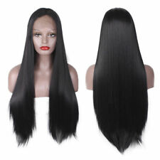 "26"" Human Hair Full Lace Wig Black Women Body Wave Glueless Lace Wigs Baby Gift"