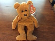 TY CURLY Beanie Baby Rare Hang Tag 1996 Tush 1993 Brown Nose. Black Eyes.