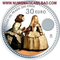 España 30 EUROS 2020 PLATA SC @COLORES@ LAS MENINAS MUSEO DEL PRADO VELAZQUEZ