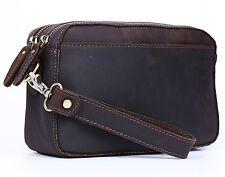 Polare Real Leather Men Purse Wallet Clutch Pouch Handbag Wrist Bag Shoulder Bag