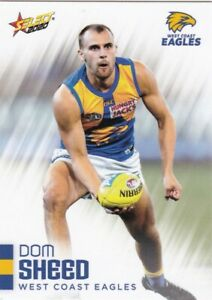 AFL 2020 Select West Coast Eagles  - Dom Sheed Card No.168