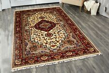 Antique Hand Knotted Rug Indian Handmade Carpet Oriental 4'X6' Persian Area Rug