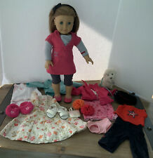 American Girl Today LIGHT BROWN HAIR & BLUE EYES, CLOTHING  & Dog LOT