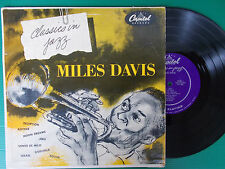 """LP 10"""" MILES DAVIS CLASSICS IN JAZZ CAPITOL H 459 USA MONO PERFETTO 1954"""