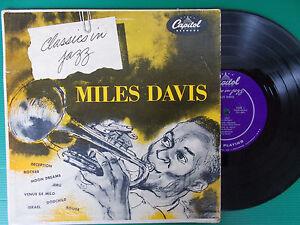 """LP 10"""" MILES DAVIS CLASSICO IN JAZZ CAPITOL H 459 USA MONO PERFETTO 1954"""