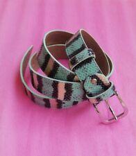 Cintura Donna Animalier Pitonata Vera Pelle 100% Leather Nuovo New Saldi 130 cm