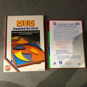 QED Puzzle Squaring the Circle, 1980's, Peter Pan Playthings, Rare. Vintage