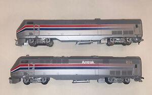 ATHEARN BLUE BOX AMTRAK P-42 Locomotives DC Power And dummy