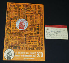 1970 QUEBEC INTERNATIONAL PEEWEE HOCKEY TOURNAMENT - PROGRAM + 2 TICKET + BUTTON