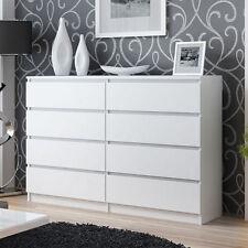 Kommode Sideboard Anrichte Schrank 120cm 8 Schubladen Weiß