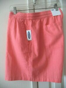 Must Have! Old Navy Coral Orange Melon Linen Blend Casual Short 18 20 2X XXL
