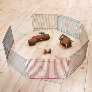 Indoor Dwarf Hamster Mouse Metal Pet Play Pen Run 8 Panel Exercise Area Extend
