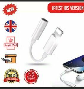 Apple Lightening To jack Adaptor 3.5mm headphone For IPhone Uk Stock