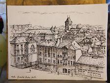 Encre de Chine Metz Outre Seille André Simon 1926-2014 1986 Artiste Lorrain