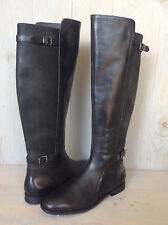 UGG DANAE BLACK LEATHER TALL RIDING BOOTS WOMENS US 8 NEW