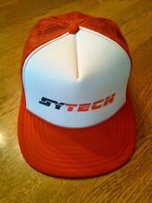 "Vintage Sy Tech Mesh/Snap Back Trucker's Hat, Red, White, ""The Mad Hatter"" Brand"
