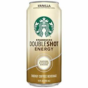 Starbucks Doubleshot Energy Coffee Vanilla 15 Fl Oz Pack of 12