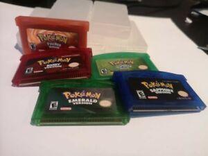 Pokemon Emerald, Sapphire, Ruby, Fire Red & Leaf Green Nintendo Game Boy Advance