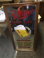 Miller High Life On Tap Beer Mirror In Good Condition