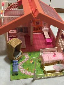 Barbie Traumhaus 1545 magic Villa von 1992 vintage Haus im Koffer mit Strandkorb