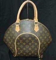 Louis Vuitton M51126 Monogram Brown Ellipse MM Hand Bag Used LV