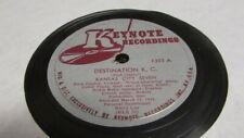 LESTER YOUNG & BUVK CLAYTON KEYTONE 78 RPM RECORD 1303 DESTINATION K.C.