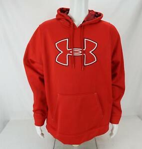 Under Armour Loose Fit Hoodie Sweatshirt Red/Black Men's Large
