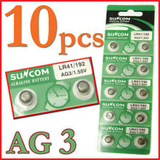10Pcs AG3 LR41 192 1.55V Alkaline Coin Button Coin Cell Battery For Watches New