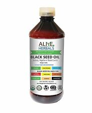 Alive Herbals Black Seed Oil Cold Pressed Organic 32  OZ No Preservatives Added