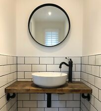 Pewter Artisan Round Mirror 55cm diameter