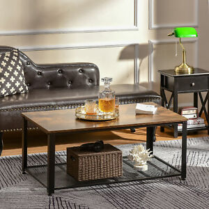 Coffee/End Table Industrial Style w/Storage Shelf Versatile Use For Home Office