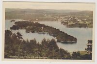 Cumbria postcard - Windermere Lake, Belle Isle and Bowness