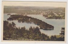 Cumbria postcard - Windermere Lake, Belle Isle and Bowness