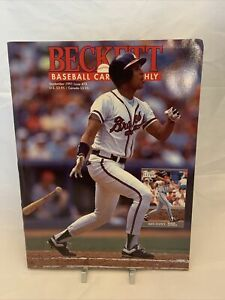 Beckett Baseball Card Monthly September 1991 David Justice Scott Erickson