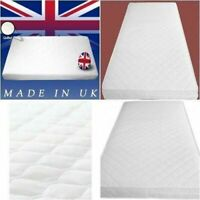 Baby Toddler Crib Cot Bed Breathable QUILTED Foam Mattress NEW 130 X 70 X 10 CM