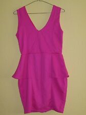 Ladies Mini Dress By River Island, Size 12, Coral Colour