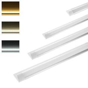 Lot de 4 Tube led intégré réglette lumineuse LED 120cm blanc chaud froid neutre