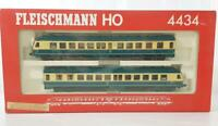 FLEISCHMANN 4434 HO - GERMAN DB CLASS BR 614 SUBURBAN DMU RAILCAR SET Bi-LIGHTS