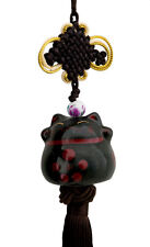 suspension maneki neko-chat japonais- porte bonheur-grand modele noir-487-sd1