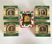1989 Enesco Wizard of Oz 50th Anniversary Set Of Ornaments + Dorthy's House