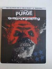 THE FIRST PURGE STEELBOOK (4K UHD + Blu-Ray + Digital Copy) Brand New & Sealed