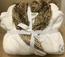 """Pottery Barn CARAMEL OMBRE Faux Fur XL Robe Without Hood """"S"""" *Minor Issue*"""